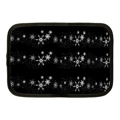 Black elegant  Xmas design Netbook Case (Medium)