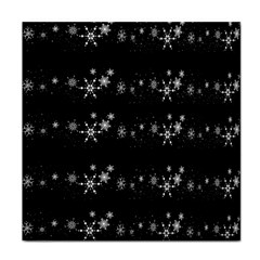 Black elegant  Xmas design Face Towel