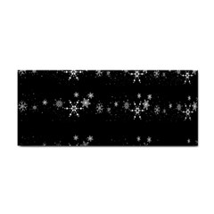 Black elegant  Xmas design Hand Towel