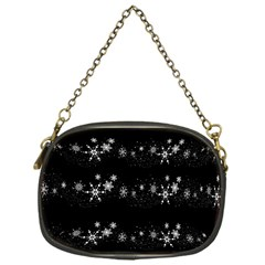 Black elegant  Xmas design Chain Purses (One Side)