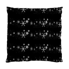 Black elegant  Xmas design Standard Cushion Case (Two Sides)