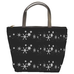 Black elegant  Xmas design Bucket Bags