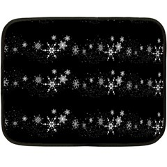 Black elegant  Xmas design Fleece Blanket (Mini)