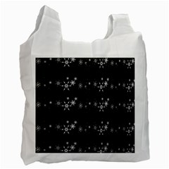 Black elegant  Xmas design Recycle Bag (Two Side)