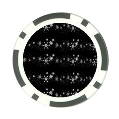 Black elegant  Xmas design Poker Chip Card Guards (10 pack)