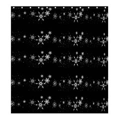 Black elegant  Xmas design Shower Curtain 66  x 72  (Large)