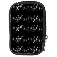 Black elegant  Xmas design Compact Camera Cases
