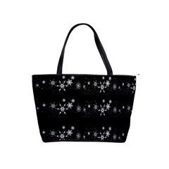 Black elegant  Xmas design Shoulder Handbags