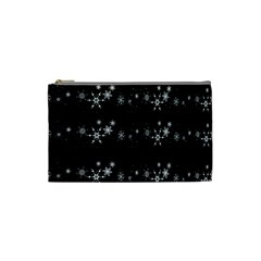 Black elegant  Xmas design Cosmetic Bag (Small)
