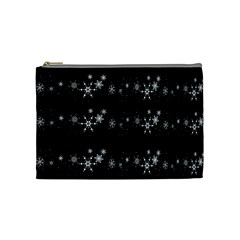 Black elegant  Xmas design Cosmetic Bag (Medium)