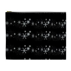Black elegant  Xmas design Cosmetic Bag (XL)