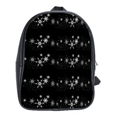 Black elegant  Xmas design School Bags(Large)