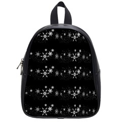 Black elegant  Xmas design School Bags (Small)