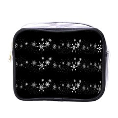 Black elegant  Xmas design Mini Toiletries Bags