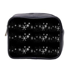 Black elegant  Xmas design Mini Toiletries Bag 2-Side