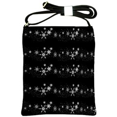 Black Elegant  Xmas Design Shoulder Sling Bags