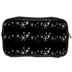 Black elegant  Xmas design Toiletries Bags 2-Side