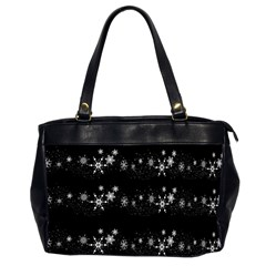 Black elegant  Xmas design Office Handbags (2 Sides)