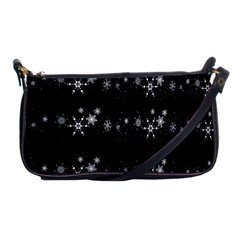 Black elegant  Xmas design Shoulder Clutch Bags