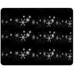 Black elegant  Xmas design Fleece Blanket (Medium)