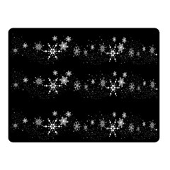 Black elegant  Xmas design Fleece Blanket (Small)