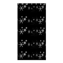Black elegant  Xmas design Shower Curtain 36  x 72  (Stall)