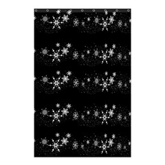 Black elegant  Xmas design Shower Curtain 48  x 72  (Small)