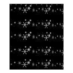 Black elegant  Xmas design Shower Curtain 60  x 72  (Medium)
