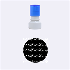 Black elegant  Xmas design Rubber Round Stamps (Small)