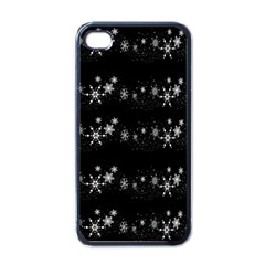 Black elegant  Xmas design Apple iPhone 4 Case (Black)