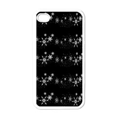 Black elegant  Xmas design Apple iPhone 4 Case (White)
