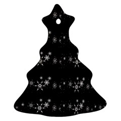 Black elegant  Xmas design Christmas Tree Ornament (2 Sides)