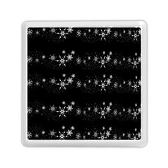 Black elegant  Xmas design Memory Card Reader (Square)