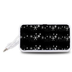Black elegant  Xmas design Portable Speaker (White)