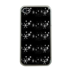 Black elegant  Xmas design Apple iPhone 4 Case (Clear)