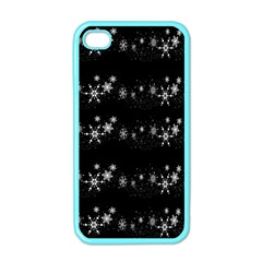 Black elegant  Xmas design Apple iPhone 4 Case (Color)