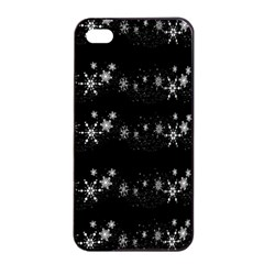 Black elegant  Xmas design Apple iPhone 4/4s Seamless Case (Black)