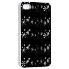 Black elegant  Xmas design Apple iPhone 4/4s Seamless Case (White)