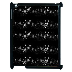 Black elegant  Xmas design Apple iPad 2 Case (Black)