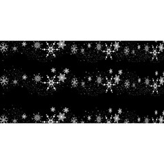 Black elegant  Xmas design YOU ARE INVITED 3D Greeting Card (8x4)