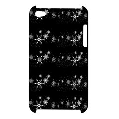 Black elegant  Xmas design Apple iPod Touch 4