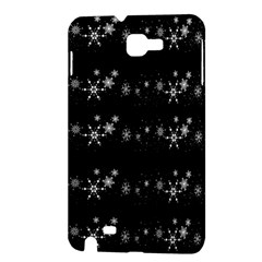 Black elegant  Xmas design Samsung Galaxy Note 1 Hardshell Case