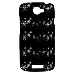 Black elegant  Xmas design HTC One S Hardshell Case