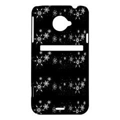 Black elegant  Xmas design HTC Evo 4G LTE Hardshell Case