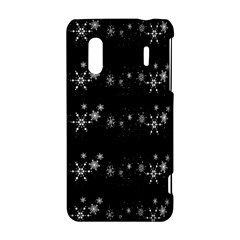 Black elegant  Xmas design HTC Evo Design 4G/ Hero S Hardshell Case