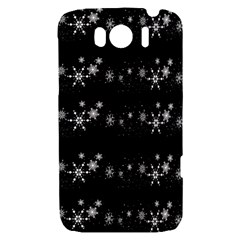 Black elegant  Xmas design HTC Sensation XL Hardshell Case