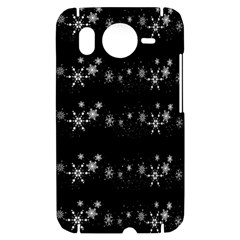 Black elegant  Xmas design HTC Desire HD Hardshell Case