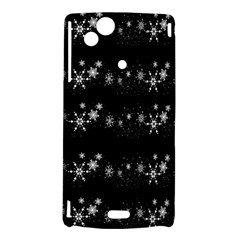 Black elegant  Xmas design Sony Xperia Arc
