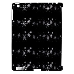 Black elegant  Xmas design Apple iPad 3/4 Hardshell Case (Compatible with Smart Cover)