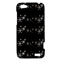 Black elegant  Xmas design HTC One V Hardshell Case